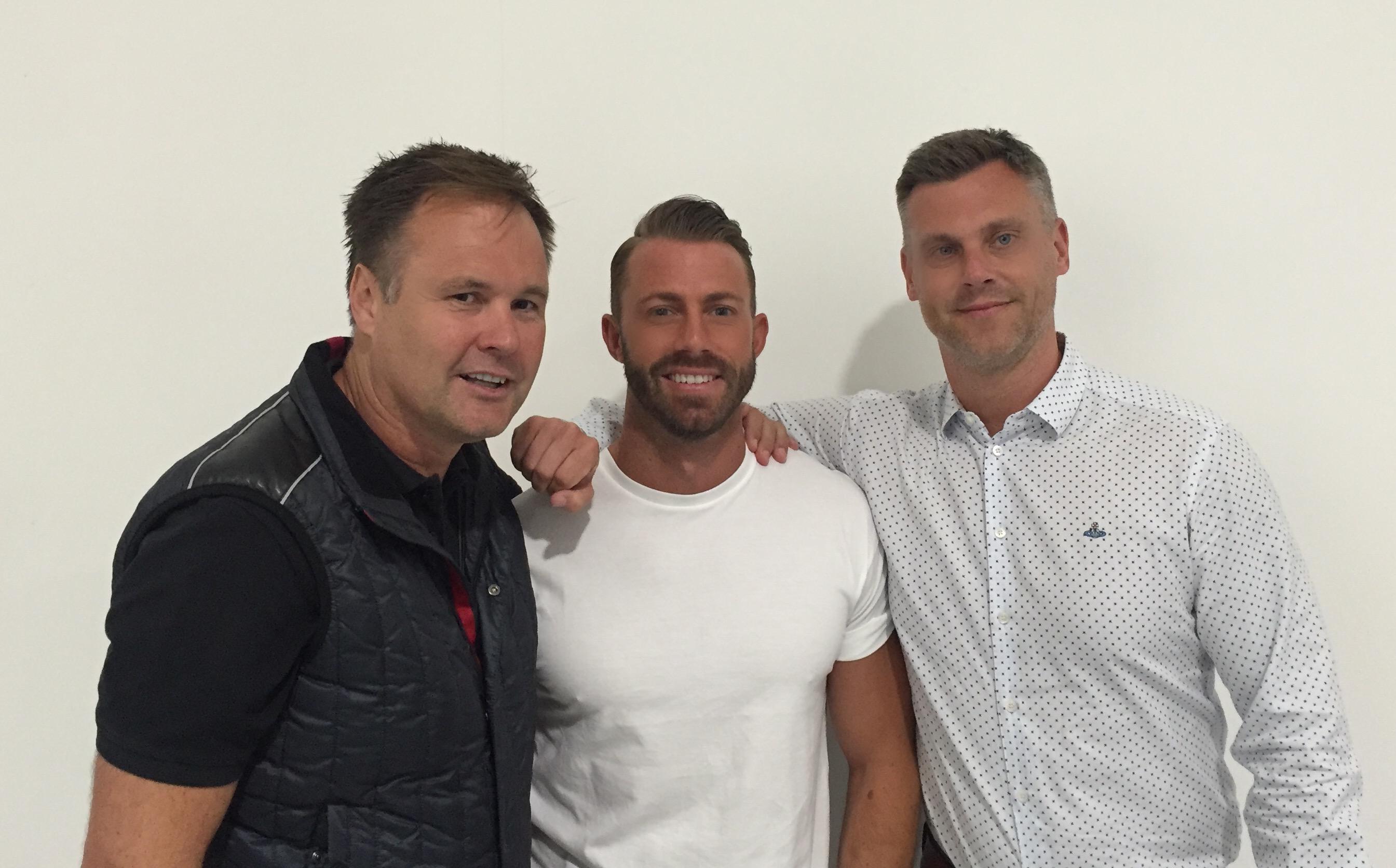 Mark Holland, Pete Harpam and David Nicholson